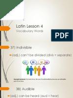 latin lesson 4 vocab