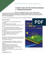 Newsoftomorrow.org-Alain de Luzan Votre Sant en Lieu Sr Des Solutions Pratiques Grce La Gobiologie RsumCommentaire