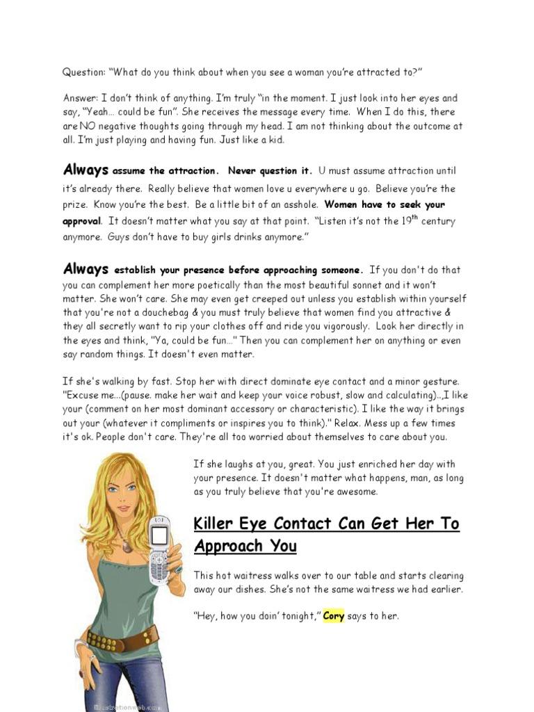 Cory Skyy - Notes pdf | Body Language | Conversation