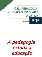 RELAÇÕES PEDAGOGIA, EDUCAÇÃO ESCOLAR E DIDÁTICA