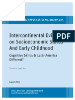 Intercontinental Evidence on Socioeconomic Status and Early Childhood- Cognitive Skills- Is Latin Am