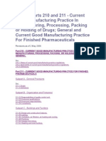 21 CFR Parts 210 and 211 - GMP  Drug Industry.doc