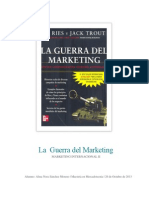 Ensayo de La Guerra Del Marketing