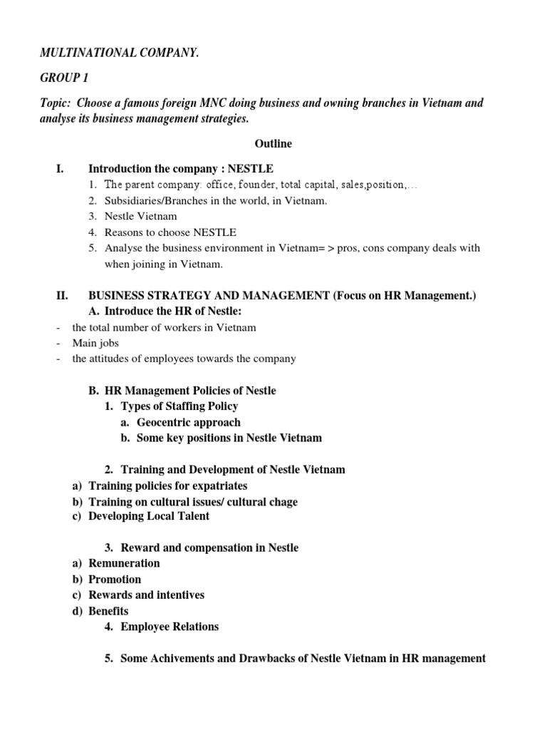 NESTLE bản in   Human Resource Management   Nestlé