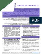 domestic violence fact sheet