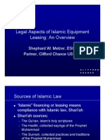Legal Aspects of Islamic Eqpt Lsg-CliffChance