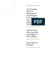 """On """"Paradigm Shifts"""" in International  and Philippine Law Regarding the Treatment of Indigenous Peoples.pdf"""