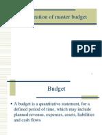 Preparation of master budget.ppt