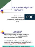 Administraci-¦ón de Riesgo de Software