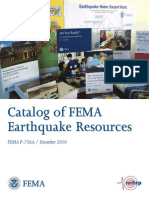 Catalog of Fema Earthquake Resources