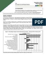 Australian Labour Market Update April 2011
