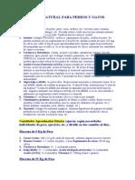 [Medicina Veterinaria] Dieta Natural Para Perros Y Gatos.doc