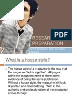 Music Magazine Preparation