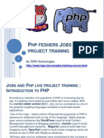 Php feshers Jobs and live project training.ppt