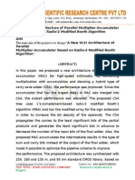 A New VLSI Architecture of Parallel Multiplier–Accumulator Based on Radix-2 Modified Booth Algorithm.doc