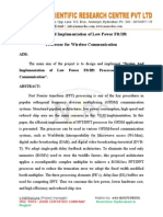 Design and implementation of low power FFT IFFT processor for wireless communication.doc