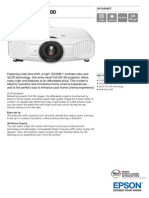 Epson EH-TW7200 3LCD Full HD 1080p 3D Home Theatre Projector