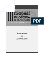 Programa III Jornadas Est Filosofía UBA