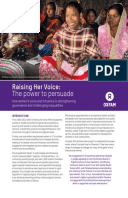 Raising Her Voice: The power to persuade