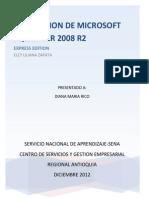 Descargar Microsoft SQL SERVER 2008