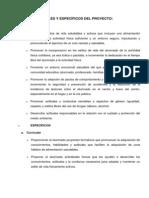 OBJETIVOS GENERALES Y ESPECÍFICOS DEL PROYECTO