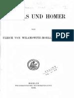 Wilamowitz Die Ilias Und Homer 1916