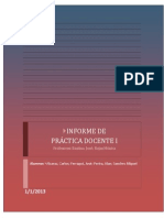 INFORME DE PRÁCTICA DOCENTE
