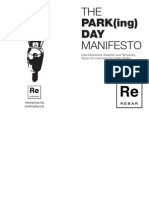 Parking Day Manifesto Booklet