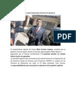 Vicepresidente de Cusco Rechaza Proyecto Majes II