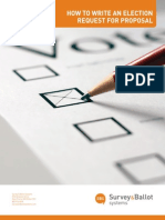 How to Write an Election Request for Proposal