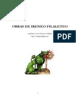 Obras de Ireneo Filaleteo Artefuego