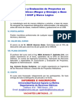 Diptico Curso Snipcon Riesgo (Febrero 2014)