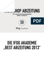 Workshop Best Abizeitung