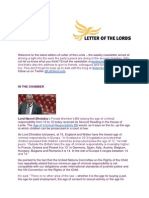 Letter of the Lords - November 8, 2013