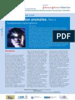 Binocular Vision Anomalies Part 1