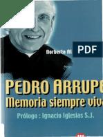 Alcover Norberto Pedro Arrupe Memoria Siempre Viva