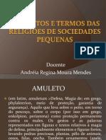 Conceitos e termos das religiões de sociedades pequenas