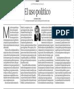 El uso político - Javier Escobal - El Comercio - 081113