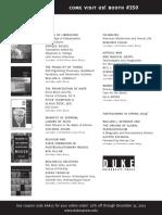 Duke University Press Program Ad for American Academy of Religion 2013
