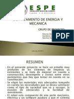 Departamento de Energia y Mecanica