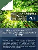 MBA – Meio Ambiente e Organizações Empresariais e Sociais - Grupo Educa+ EAD