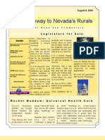 Volume 1 Number 5 Nye-Gateway to Nevada's Rurals Newsletter August 8, 2009