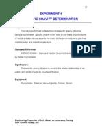 Experiment Specific Gravity
