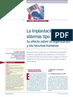 La implantación de sistemas tipo ERP