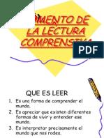 FOMENTO DE LA LECTURA COMPRENSIVA.ppt