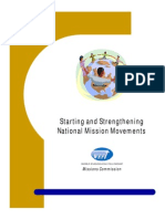 Starting and Strengthening National Mission Movements