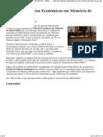 Prémio de Ciências Económicas em Memória de Alfred Nobel