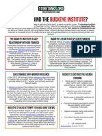 OH - WHO IS BEHIND THE Buckeye Institute