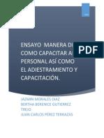 Capacitación y adiestramiento y productividad 1