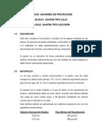 Especificaciones Tecnicas de GAVIONES DE PROTECCIÓN (TIPO CAJA Y TIPO COLCHÓN)
